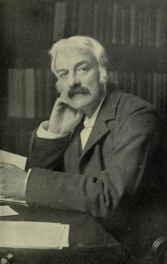 Portrait of Andrew Lang, the Scottish poet and collector of fairy tales